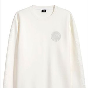 The Weeknd H&M Collab White Jumper